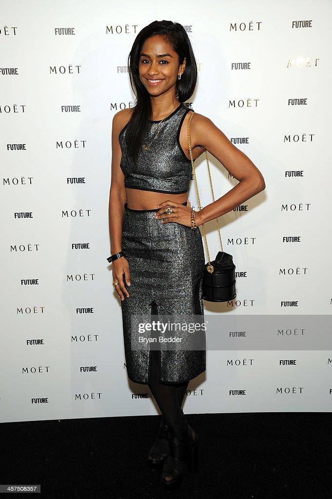 Vashtie Kola attends the Moet Rose Lounge at The Box on December 17, 2013 in New York City.