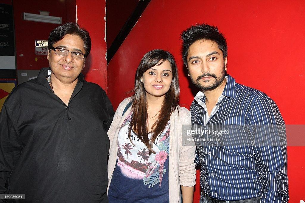 Vashu Bhagnani with Honey and Dheeraj Deshmukh during special Screening of upcoming movie Race 2 at PVR, Juhu on January 24, 2013 in Mumbai, India.