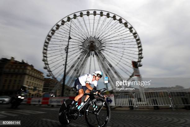 Vasil Kiryienka of Belarus and Team Sky in action during stage twenty of Le Tour de France 2017 on July 22 2017 in Marseille France
