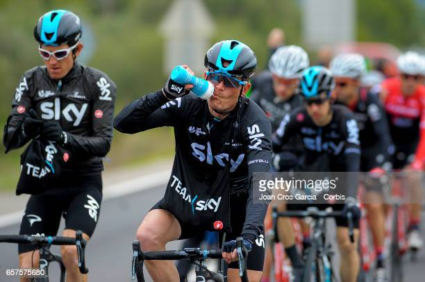 Vasil Kiryienka of Team Sky rides during the fifth stage of Tour cycling race La Volta a Catalunya on May 24 2017 in Tortosa Spain