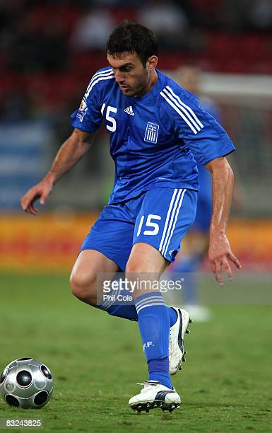 Vasilios Torosidis of Greece during the Group Two FIFA World Cup 2010 qualifying match between Greece and Moldova held at the Georgios Karaiskakis...