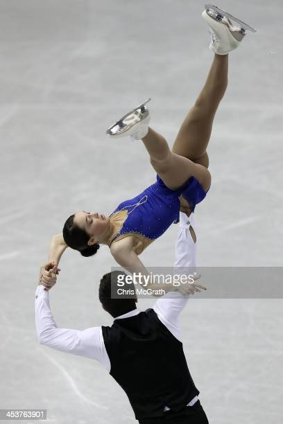 Vasilisa Davankova and Andrei Deputat of Russia compete in the Junior Pairs Short Program during day one of the ISU Grand Prix of Figure Skating...