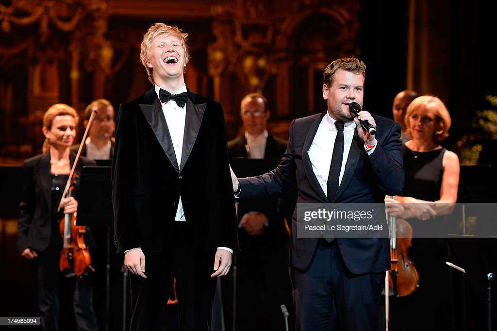 Vasilyi Barkhatov and James Corden attend the dinner at 'Love Ball' hosted by Natalia Vodianova in support of The Naked Heart Foundation at Opera Garnier on July 27, 2013 in Monaco, Monaco.