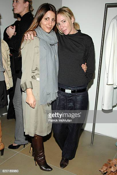 Vasoula Barbagiannis and Lauryn Flynn attend CALVIN KLEIN COLLECTION and SAFE HORIZON's Junior Council Cocktail Party at Calvin Klein Collection on...