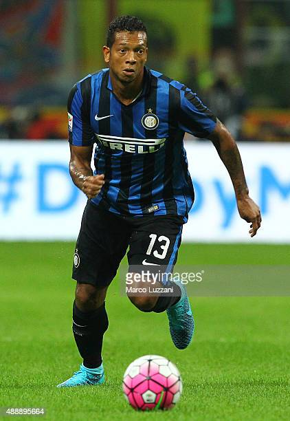 Vasquez Fredy Alejandro Guarin of FC Internazionale Milano in action during the Serie A match between FC Internazionale Milano and AC Milan at Stadio...
