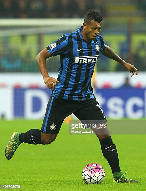 Vasquez Fredy Alejandro Guarin of FC Internazionale Milano in action during the Serie A match between FC Internazionale Milano and Juventus FC at...