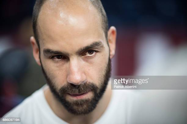 Vassilis Spanoulis #7 of Olympiacos Piraeus during the 2017 Turkish Airlines EuroLeague Final Four Olympiacos Piraeus Practice at Sinan Erdem Dome on...