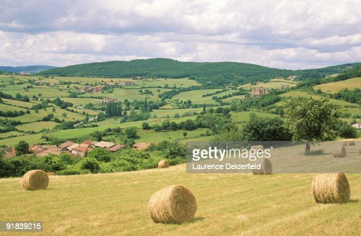 Vast countryside of Berze Le Chatel, Saone and Loire, France : Stock Photo