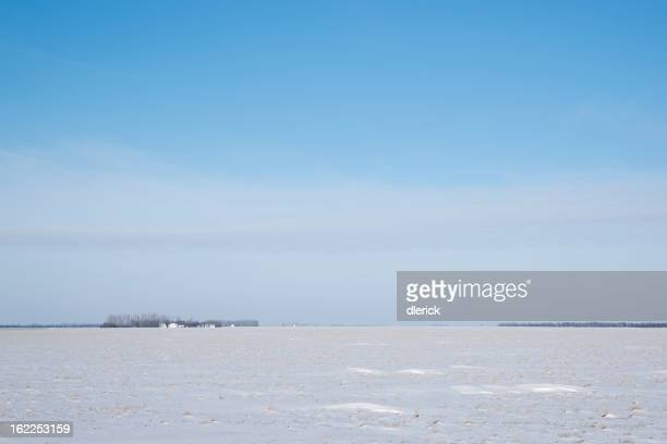 Vast Snow C overed North Dakota Prairie Landscape