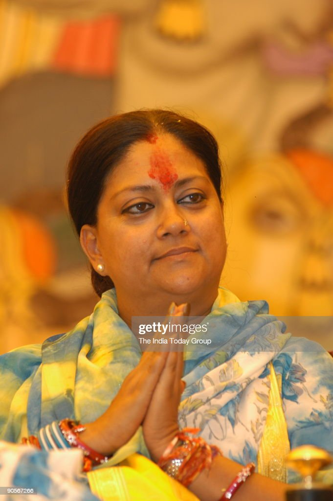 Vasundhara Raje Chief Minister of Rajasthan