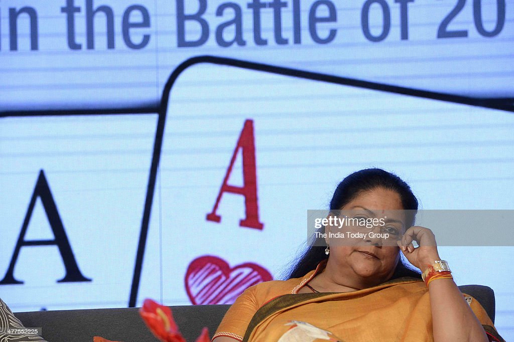 Vasundhara Raje during the India Today Conclave 2014 in New Delhi