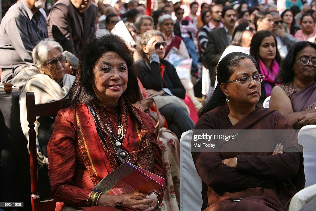 Vasundhara Raje Scindia at Jaipur Literature Festival 2010