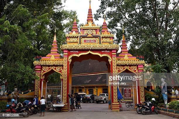 Vat Simeuang temple entry, Vientiane, Laos