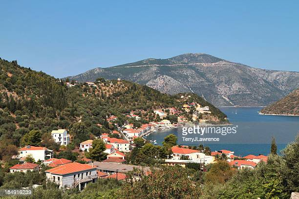 Vathy Bay From the Church, Ithaki, Ionian Islands, Greece