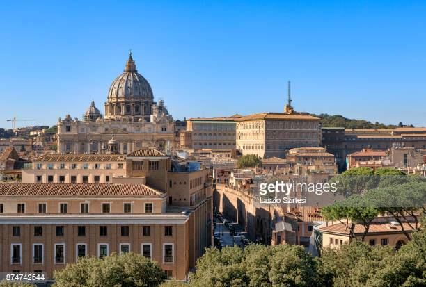 Vatican City is seen at Castel Sant'Angelo on November 1 2017 in Rome Italy Rome is one of the most popular tourist destinations in the World