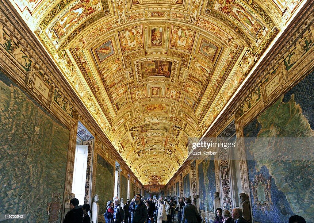 Vatican Museum gallery of  maps.