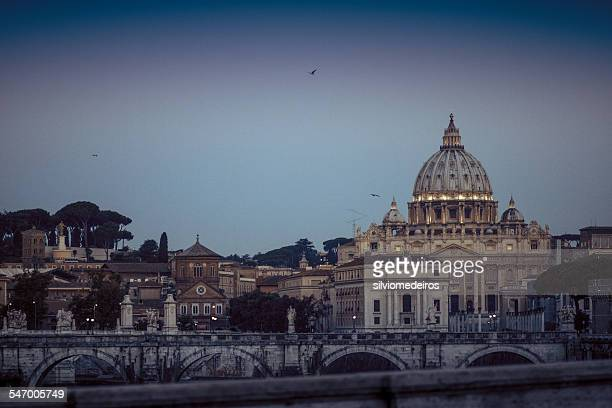 Vatican, Saint Peter Basilica at sunrise