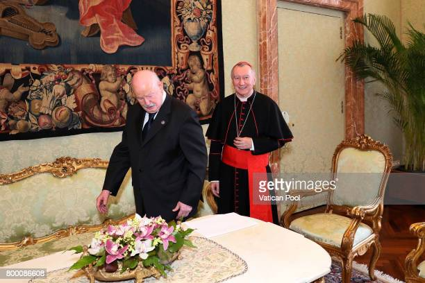 Vatican Secretary of State cardinal Pietro Parolin meets the Lieutenant of Grand Master of The Sovereign Military Order Of Malta Fra Giacomo Dalla...