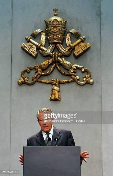 Vatican spokesman Juaquin NavarroValls delivers a medical bulletin on Pope John Paul II's health condition NavarroValls said the pontiff was...