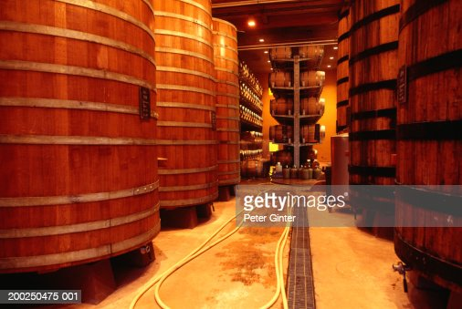 Vats in winery