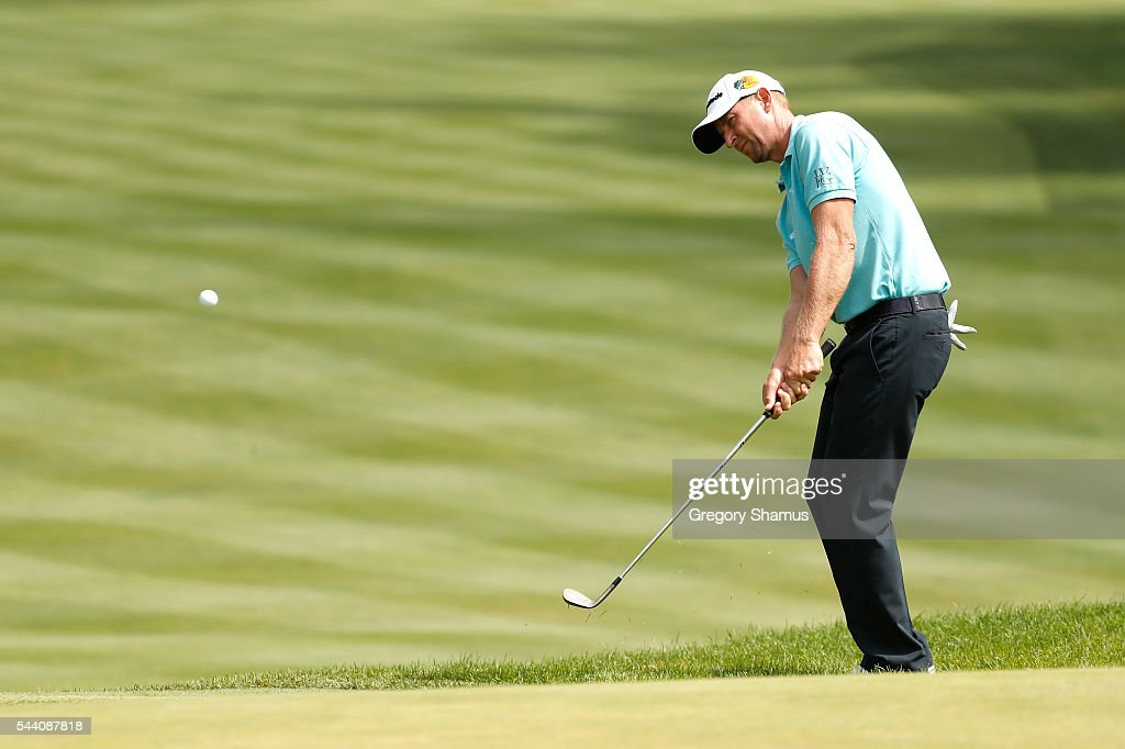 Vaughn Taylor plays a shot on the second hole during the second round of the World Golf Championships - Bridgestone Invitational at Firestone Country Club South Course on July 1, 2016 in Akron, Ohio.