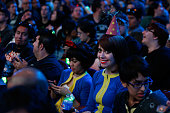 'Vaulttech' cosplay fans attend the Bethesda E3 2015 press conference at the Dolby Theatre on June 14 2015 in Los Angeles California The Bethesda...