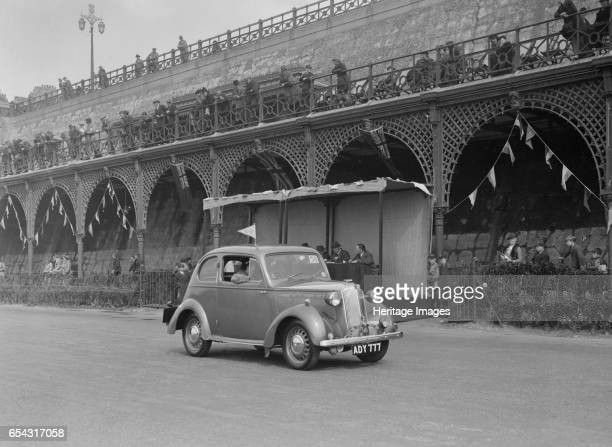 Vauxhall 10 of Miss IM Burton at the RAC Rally Madeira Drive Brighton 1939 Artist Bill Brunell Vauxhall 10 1203 cc Vehicle Reg No ADY777 Event Entry...