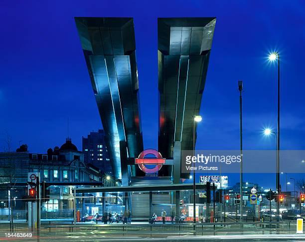Vauxhall Cross Bus Station London United Kingdom Architect Arup Associates Vauxhall Cross Bus Station Night View