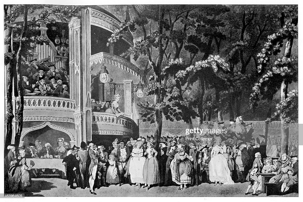 'Vauxhall Gardens' 1795 Vauxhall Gardens in Lambeth London was a pleasure ground open for public amusement and filled with statues landscaped walks...
