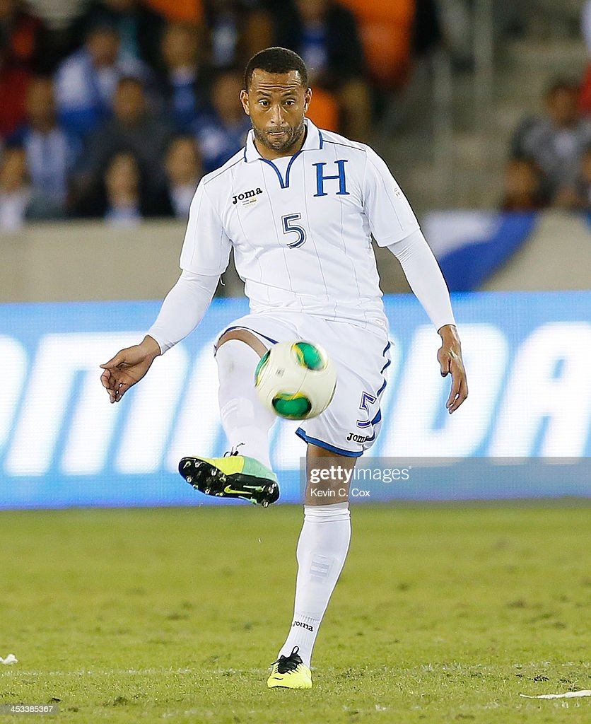 Víctor Bernárdez #5 of Honduras against Ecuador during an international friendly match at BBVA Compass Stadium on November 19, 2013 in Houston, Texas.