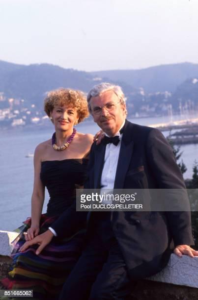 Ève Ruggiéri et Daniel Toscan du Plantier lors du Festival de Cannes en mai 1988 France