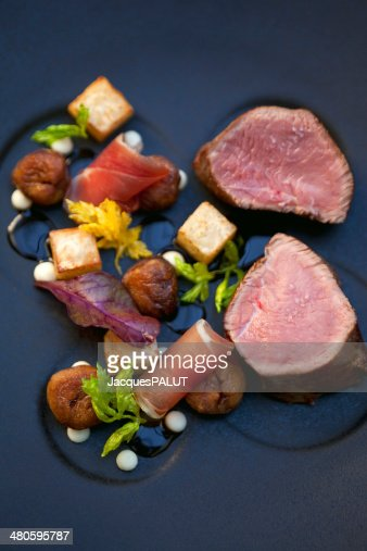 Veal and vegetables : Stock Photo