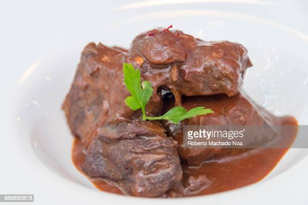 Veal dish in a house sauceCuban cuisine Food served at 'Salsa Suarez' private restaurant or paladar The place has won multiple international awards