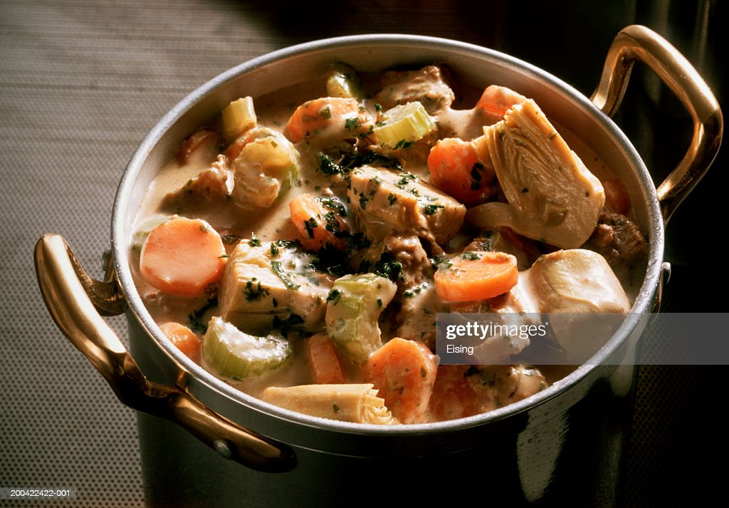 Veal Goulash With Artichokes Stock Photo | Getty Images