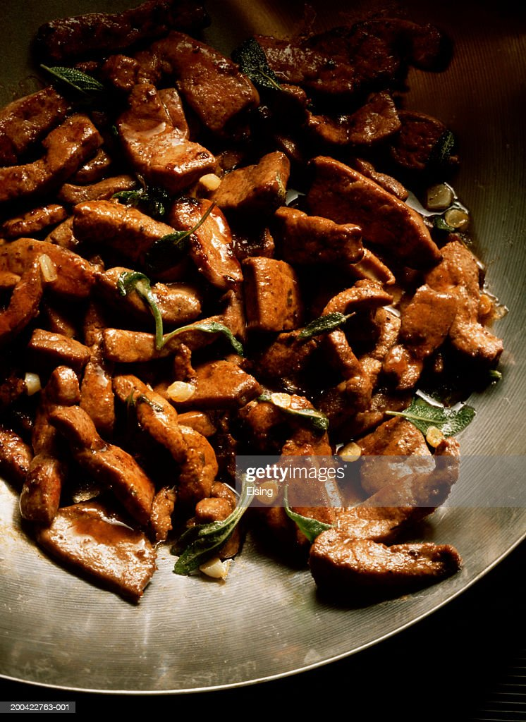 Veal Liver with Sage : Stock Photo