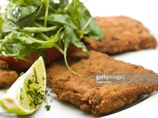 Veal Milanese with Salad
