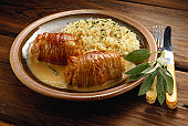 Veal Rolls in Cheese Sauce