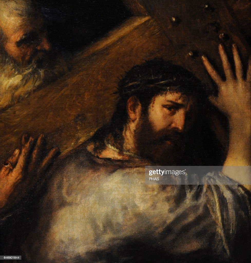 christ carrying of the cross pictures getty images