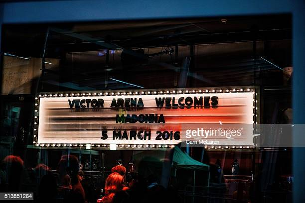 Vector Arena Welcomes Madonna during her 'Rebel Heart' Tour at Vector Arena on March 5 2016 in Auckland New Zealand