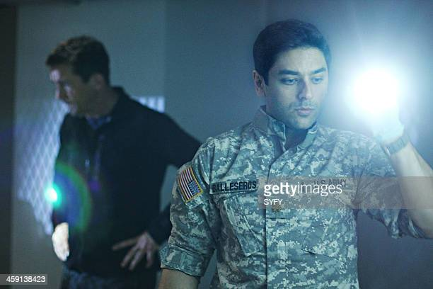 HELIX 'Vector' Episode 102 Pictured Billy Campbell as Dr Alan Farragut Mark Ghanime as Major Sergio Balleseros