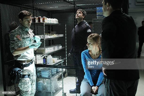 HELIX 'Vector' Episode 102 Pictured Mark Ghanime as Major Sergio Balleseros Meegwun Fairbrother as Daniel Aerov Jordan Hayes as Dr Sarah Jordan Billy...
