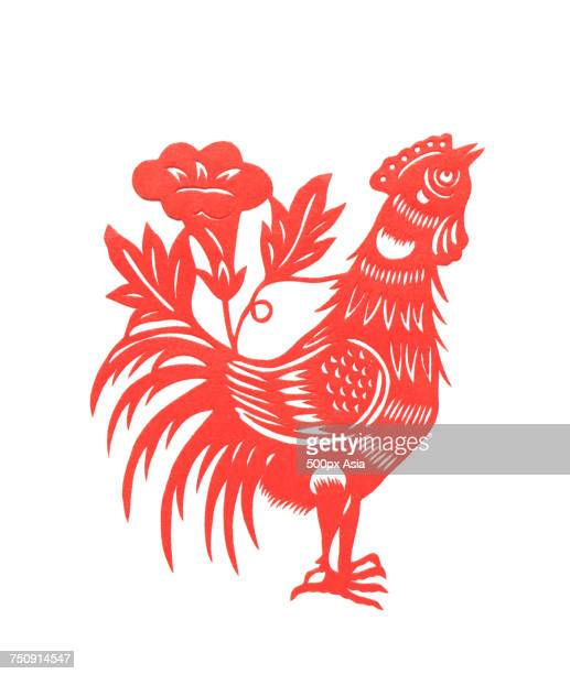 Vector graphics Chinese Year of the Cock