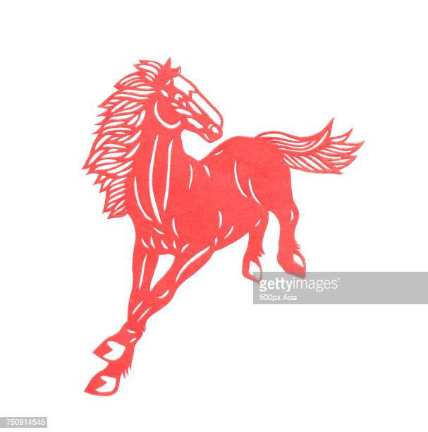 Vector graphics representing Chinese Year of the Horse