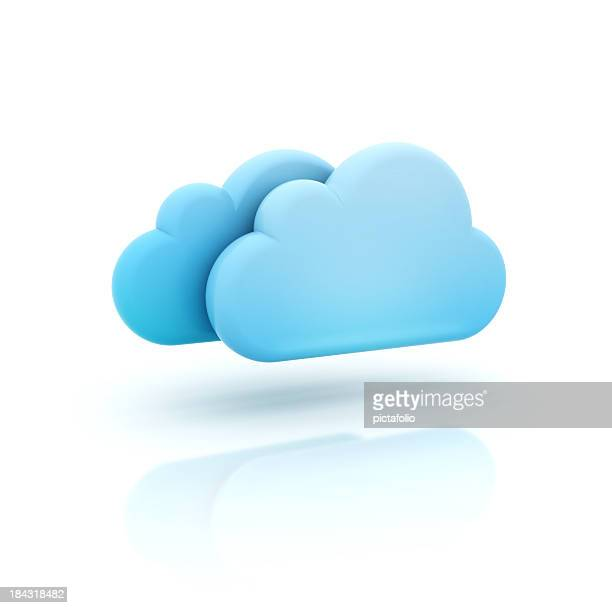 A vector illustration of a 3D cloud icon