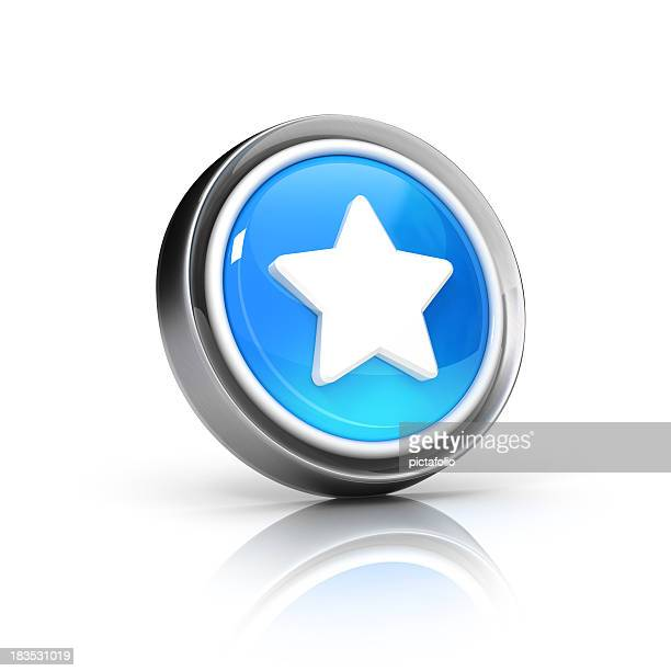 A 3D vector of a star or favorite icon
