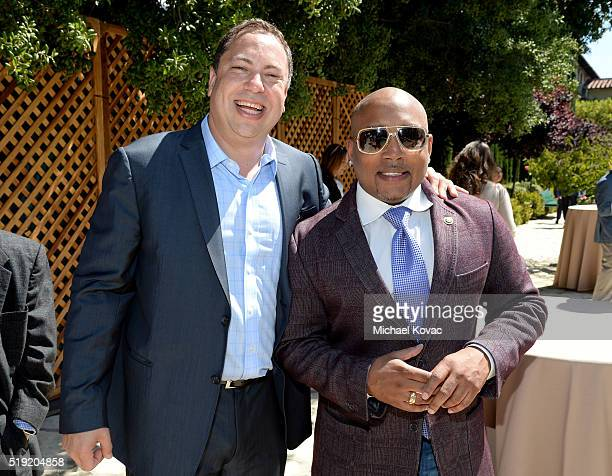 Vector OMG Partner Eric Ortner and TV personality Daymond John attend the 2016 Jane Ortner Education Award Luncheon on April 4 2016 in Beverly Hills...