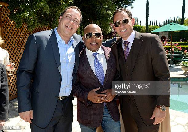 Vector OMG Partner Eric Ortner TV personality Daymond John and Vista Private Equity's Brian Sheth attend the 2016 Jane Ortner Education Award...