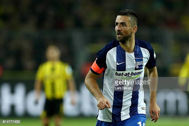 Vedad Ibisevic of Hertha Berlin is seen during the Bundesliga match between Borussia Dortmund and Hertha BSC at Signal Iduna Park on October 14 2016...