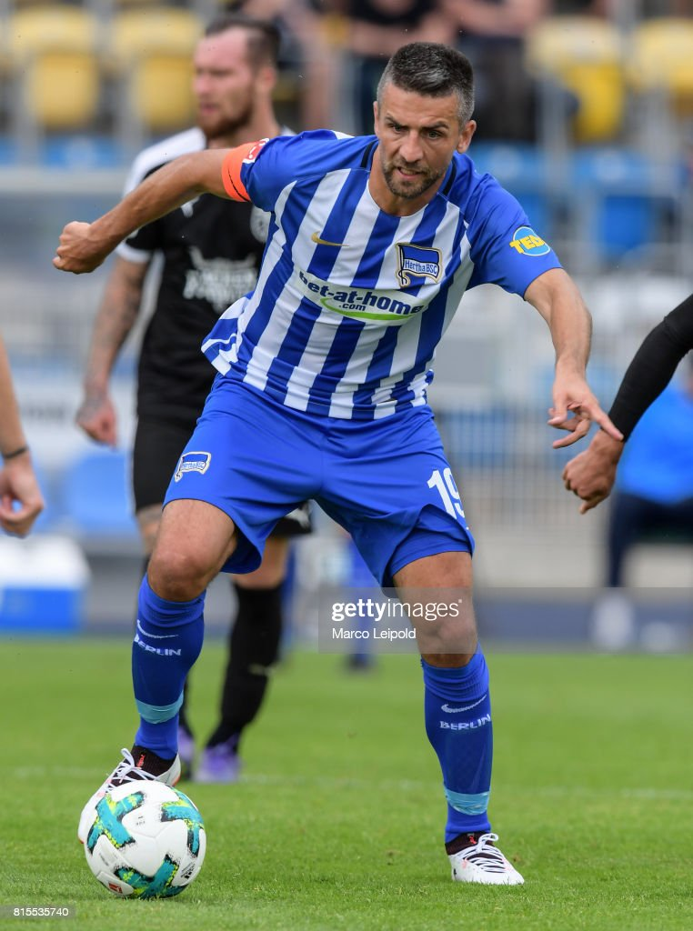 Vedad Ibisevic of Hertha BSC during the test match between Carl-Zeiss Jena and Hertha BSC on july 16, 2017 in Jena, Germany.