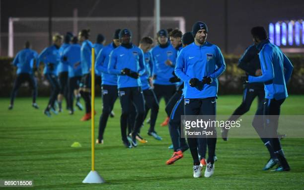 Vedad Ibisevic of Hertha BSC during the training on november 1 2017 in Berlin Germany